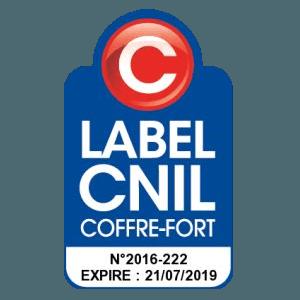 LABEL CNIL COFFRE FORT